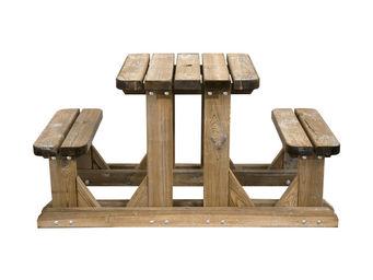 CEMONJARDIN - table pique-nique en bois duo - Picknick Tisch