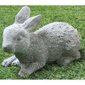 CHEMIN DE CAMPAGNE - grande statue sculpture lapin de jardin en ciment  - Gartenschmuck