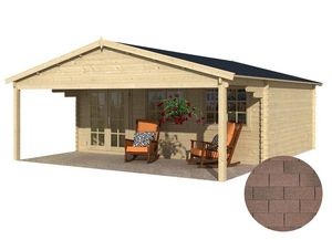 jardindeco - dépendance de jardin en bois landes bardeau droit  - Holz Gartenhaus