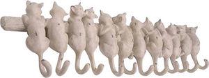 Amadeus - patère chats crème 12 crochets - Wandhaken