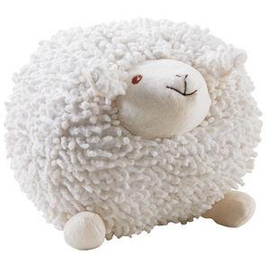 Aubry-Gaspard - mouton à suspendre en coton blanc shaggy moyen mod - Stofftier