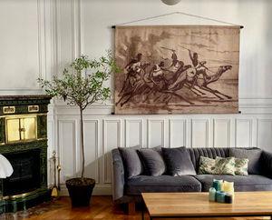 LES MATURINS - les dromadaires - Wandteppich