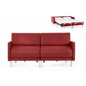 Likoolis - bosduo70l-cuirdevonrouge - Schlafcouch
