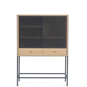 HARTÔ - gabin - cabinet en chêne et métal 1m40 - Schranksekretär
