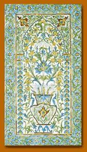 Helene Padiou - azulejos - Zierpaneel