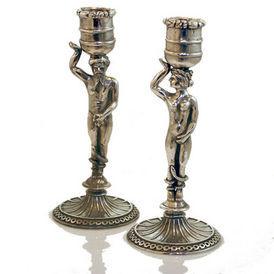 Siecle Paris - set de 2 bougeoirs adam et eve - Kerzenständer