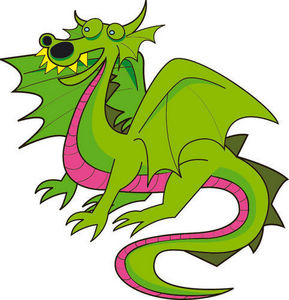 DECOLOOPIO - dragon de la féerie - Kinderklebdekor