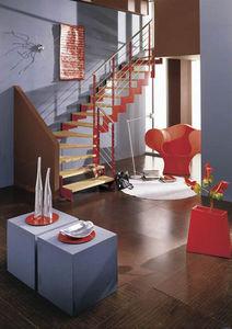 NOVALINEA - laser color - Viertelgewendelte Treppe