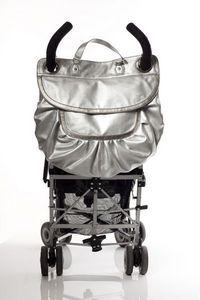 MAGIC STROLLER BAG - glam silver - Wickeltasche