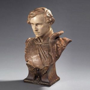 Galerie de Souzy - l'aiglon, buste en terre cuite - Büste