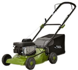 Mower Magic - handy 46cm petrol lawnmower 3-in-1 - Rasenmäher Zu Ziehen