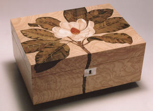 Anita Marquetry - magnolia box - Schmuckkästchen