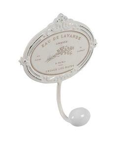 Aubry-Gaspard - patère blanche en métal eau de lavande - Wandhaken