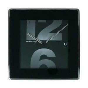 La Chaise Longue - horloge murale dateur 12&6 square noir - Pendelwanduhr