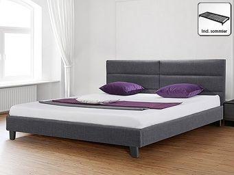 BELIANI - lit tapissier - Doppelbett