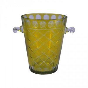 Demeure et Jardin - seau à champagne jaune - Sektkübel