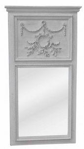 Demeure et Jardin - trumeau louis xvi stone grey - Trumeauspiegel