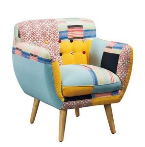 Mathi Design - fauteuil patchwork lulea - Sessel