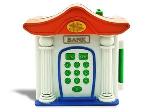WHITE LABEL - banque miniature tirelire coffre fort digital cagn - Spardose