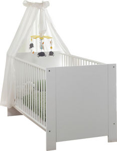 WHITE LABEL - lit bébé blanc 70x140 - Baby Reisebett
