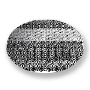 la Magie dans l'Image - assiette anis blanc noir 2 - Präsentierteller
