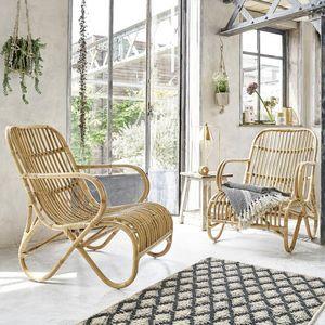 BOIS DESSUS BOIS DESSOUS - lot de 2 fauteuils en rotin relax - Sessel