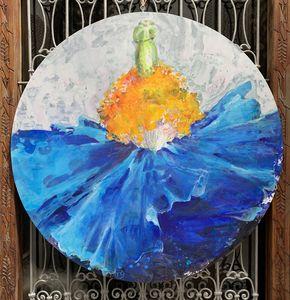 Fabienne Colin - salsa de l'himalaya - Zeitgenössische Gemälde
