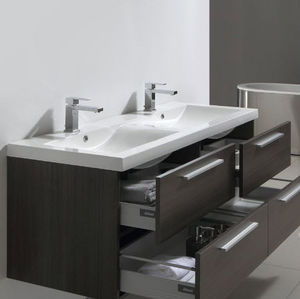 Thalassor - twin 144 legno - Doppelwaschtisch Möbel
