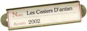 LES  CASIERS  D'ANTAN -  - Weinetikett