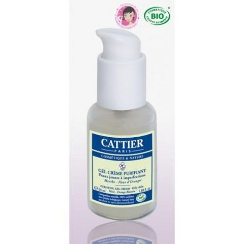CATTIER PARIS - Pflegecreme-CATTIER PARIS-Gel crème bio Purifiant peaux jeunes à imperfectio