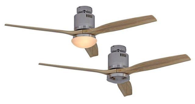 Casafan - Deckenventilator-Casafan-Ventilateur de plafond DC, moderne 132 Cm chrome p