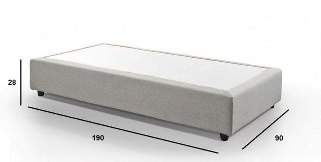 WHITE LABEL - Fester Federkernbettenrost-WHITE LABEL-Sommier haut de gamme PLAZA  90*190 cm tissu tweed