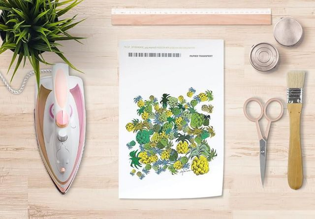 la Magie dans l'Image - Verlegung-la Magie dans l'Image-Papier transfert Ananas