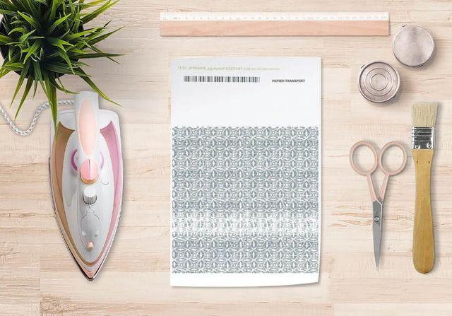 la Magie dans l'Image - Verlegung-la Magie dans l'Image-Papier transfert Anis Vert-de-gris Blanc