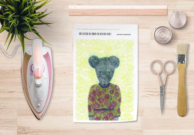 la Magie dans l'Image - Verlegung-la Magie dans l'Image-Papier transfert Ma petite souris fond fluo