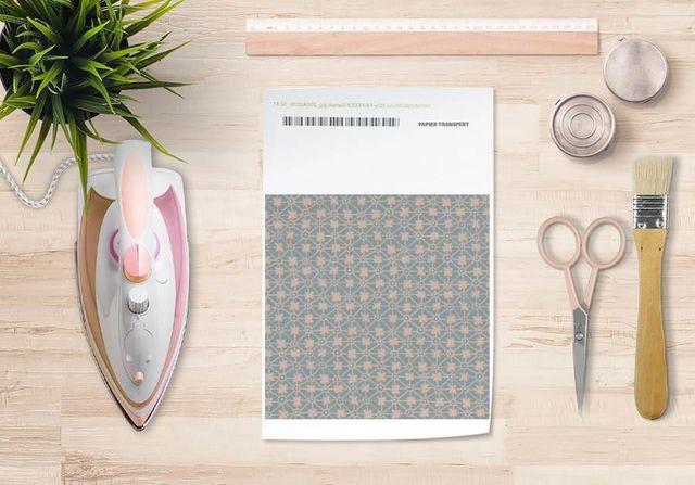 la Magie dans l'Image - Verlegung-la Magie dans l'Image-Papier transfert Trefle Vert-de-gris Beige