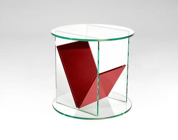 Marais International - Sockeltisch-Marais International-verre coloré---'