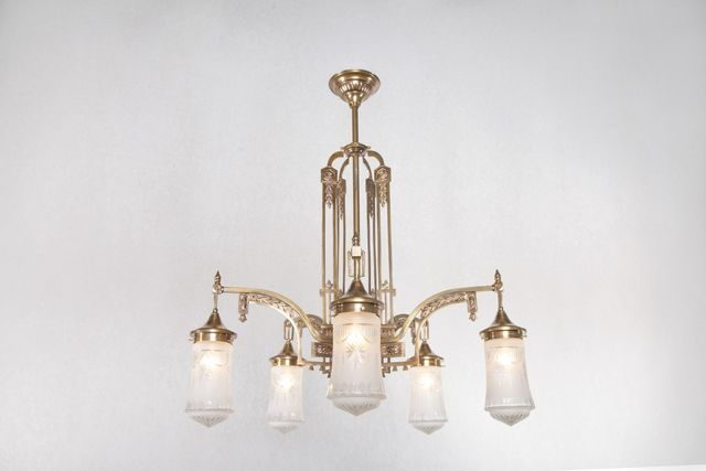 PATINAS - Kronleuchter-PATINAS-Rome 5 armed chandelier