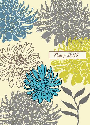 Design Atelier - Korrespondenzkarte-Design Atelier-Blumen, Chrysanthemen