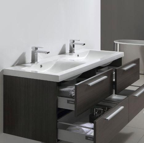 Thalassor - Doppelwaschtisch Möbel-Thalassor-Twin 144 Legno