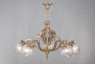 PATINAS - Kronleuchter-PATINAS-Lyon 5 armed chandelier