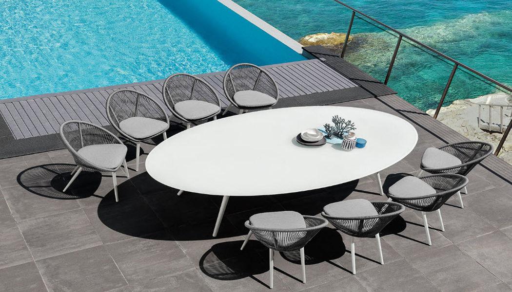 ITALY DREAM DESIGN Mesa oval de exterior Mesas de jardín Jardín Mobiliario  |