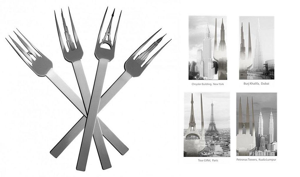 Silodesign Tenedor Tenedores Cubertería  |