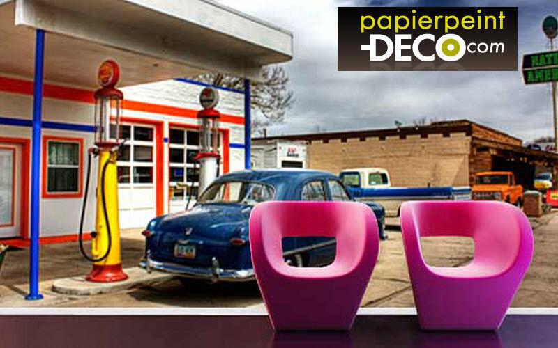 Papier peint déco Papel pintado personalizado Papeles pintados Paredes & Techos  |