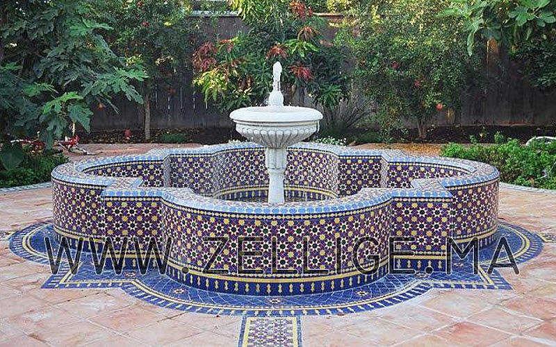 zellige marocain Fuente exterior Fuentes Jardín Jardineras Macetas Terraza | Lugares exóticos