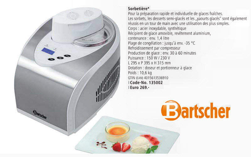 Bartscher Sorbetera Preparación cocción Cocina Accesorios  |