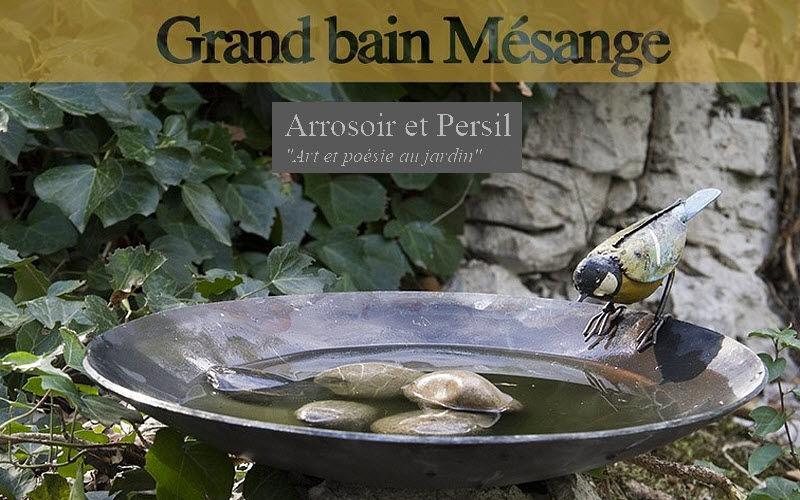 ARROSOIR ET PERSIL Baño de pájaros Ornamentos de exterior Jardín Diverso   