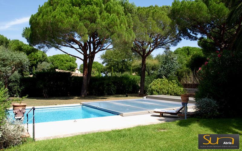 Sun Abris Cobertizo de piscina rodable o telescópico Cabinas de piscina Piscina y Spa  |