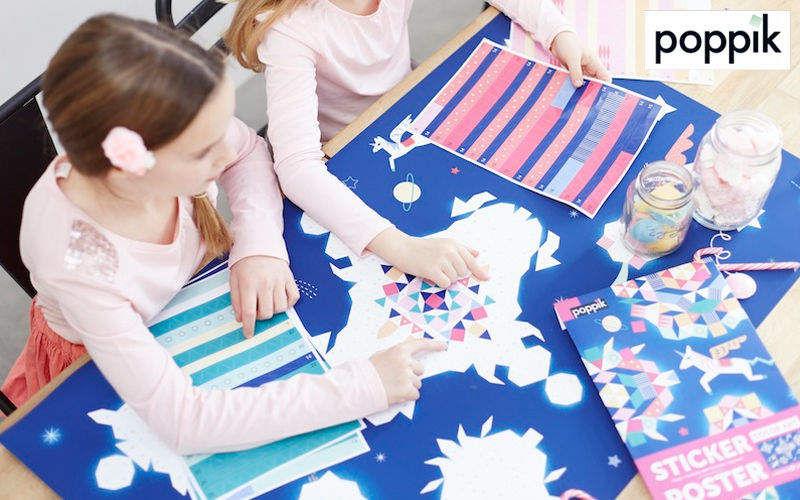 POPPIK Adhesivo decorativo para niño Decoración infantil El mundo del niño  |