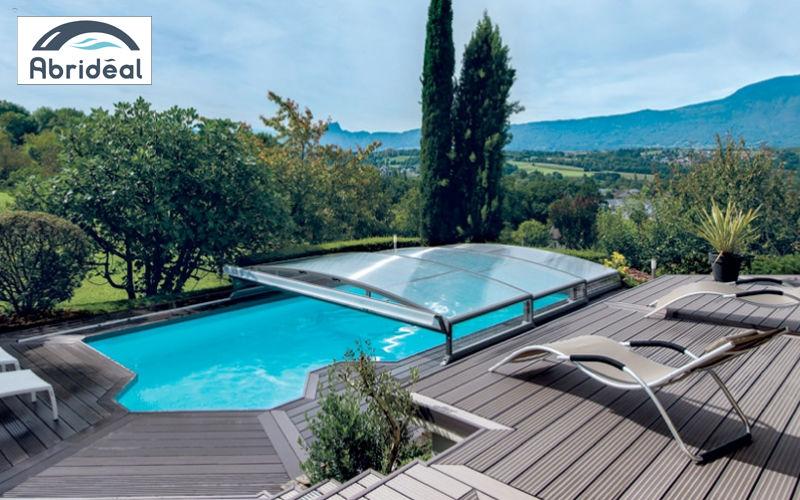Abrideal Cubierta de piscina alta corredera o telescópica Cabinas de piscina Piscina y Spa  |
